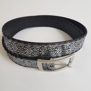 Fossil black and silver belt Large